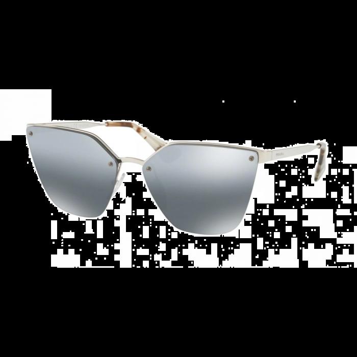 Prada Women's Sunglasses Cat Eye - Silver/Grey Mirror Grad Silver Polar
