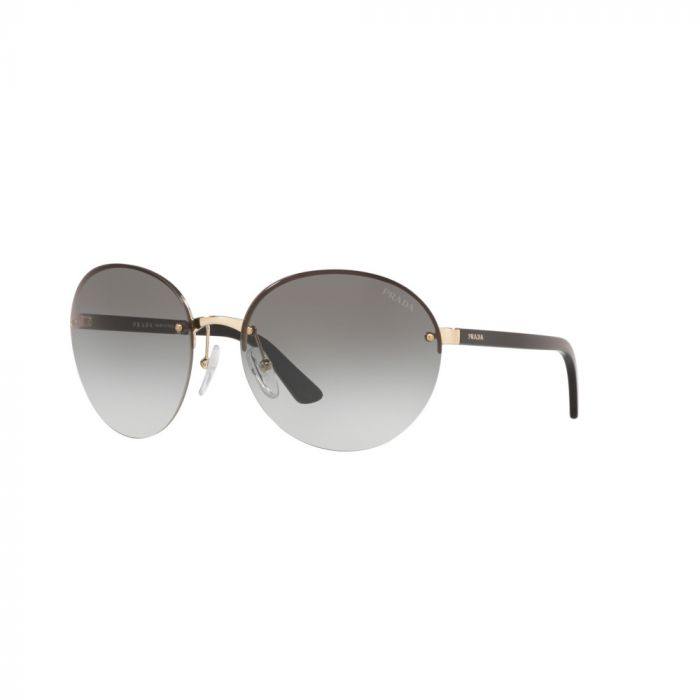 Prada Women's Sunglasses- Pale Gold/Dark Grey Gradient