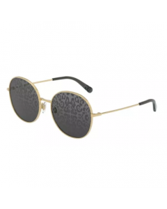 Dolce & Gabbana Women's Sunglasses  Round - Gold/Dark Gray