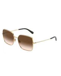 Dolce & Gabbana Women's Sunglasses Square - Brown Gradient/Gold