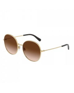 Dolce & Gabbana Women's Sunglasses Round - Brown Gradient/ Gold