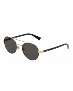 Dolce & Gabbana Men's Sunglasses Round - Gold/Matte Black
