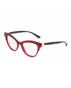 Dolce & Gabbana Women's Eyeglasses Butterfly - Transparent Bordeaux