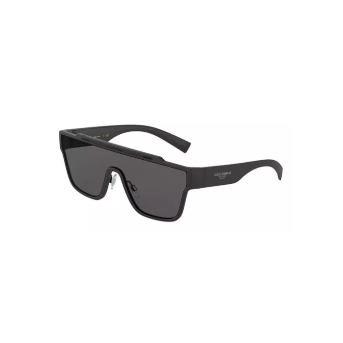 Dolce & Gabbana Men's Sunglasses Square - Matte Black/Grey