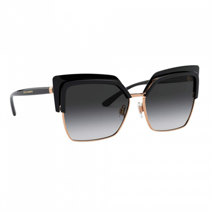Dolce & Gabbana Women's Sunglasses Square - Black/Rose Gold