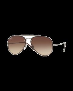 Ray-Ban Unisex Sunglasses Aviator - Gunmetal/Brown Gradient Dark Brown