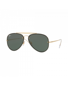 Ray-Ban Unisex Sunglasses Aviator - Gold/Dark Green