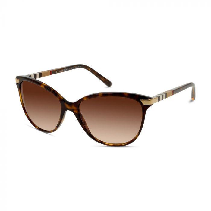 Burberry Women's Cat Eye Sunglasses- Dark Havana/ Brown Gradient