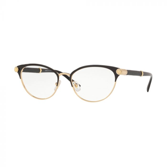 Versace Women's Cat Eye Eyeglasses - Black / Gold