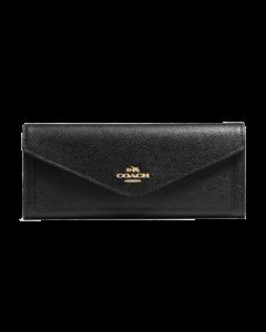 Coach Women's Soft Wallet - Black/light Gold