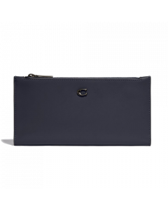 Coach Double Snap Wallet - V5/ Midnight Navy