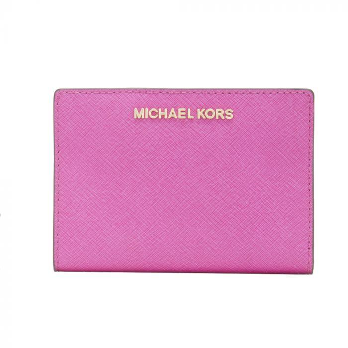 Michael kors Jet Set Travel Medium Card Case Carryall Fuschia