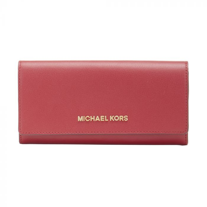 Michael Kors Jet Set Travel Large Carryall Wallet Scarlet