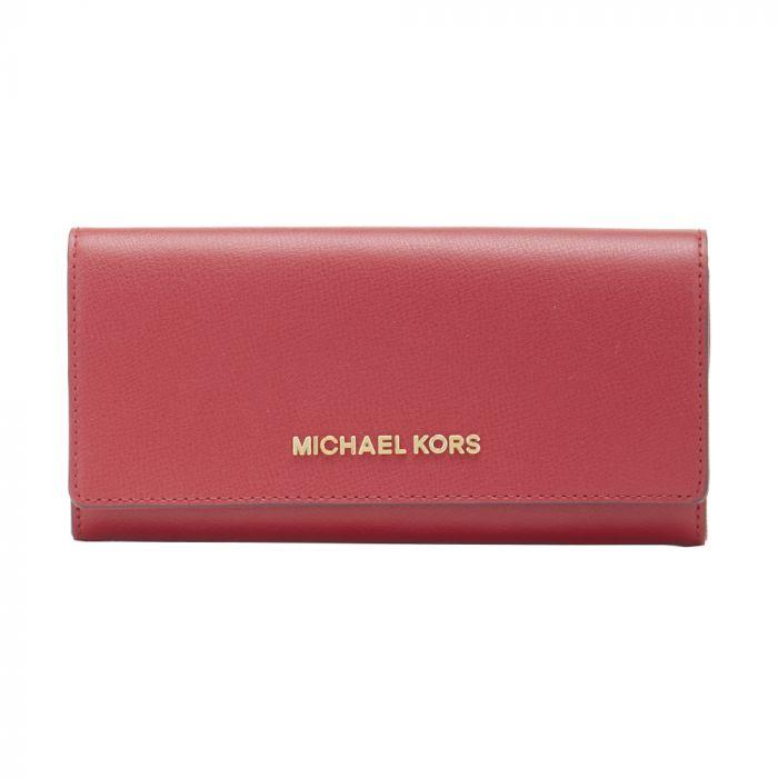 Michael Kors Jet Set Travel Large Carryall Wallet Scarlet
