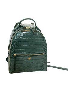 Tory Burch Women'S Crocodilec Embossed Mini Backpack - Malachite