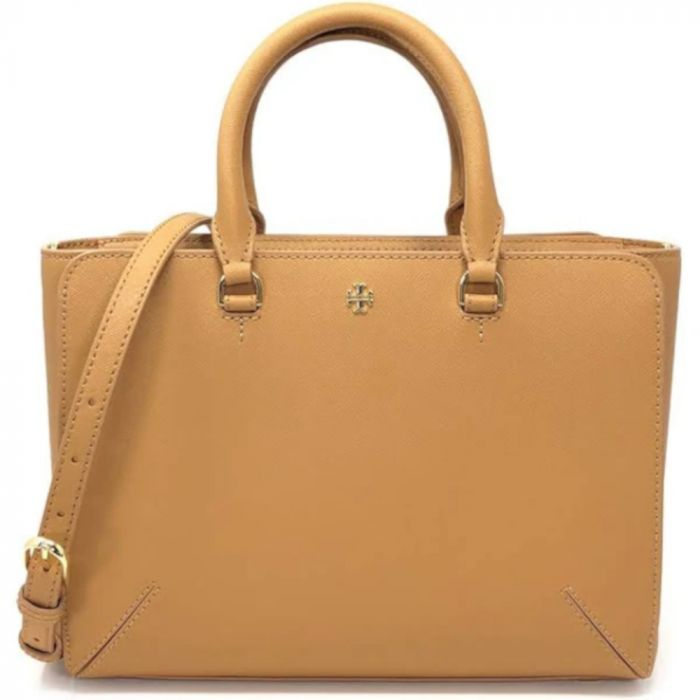 Tory Burch Emerson Small Zip Leather Tote - Cardamon