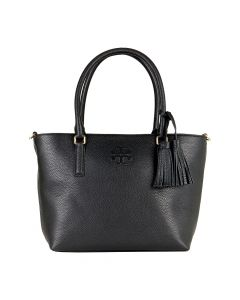 Tory Burch Small Convertible Leather Tote - Black
