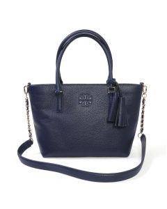 Tory Burch Thea Small Tote Royal Navy