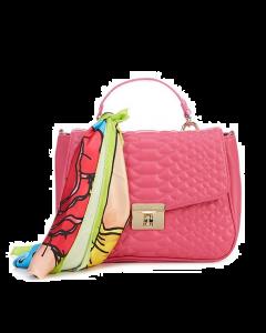 Betsey Johnson Cobra Flap Top Handle Satchel Bag