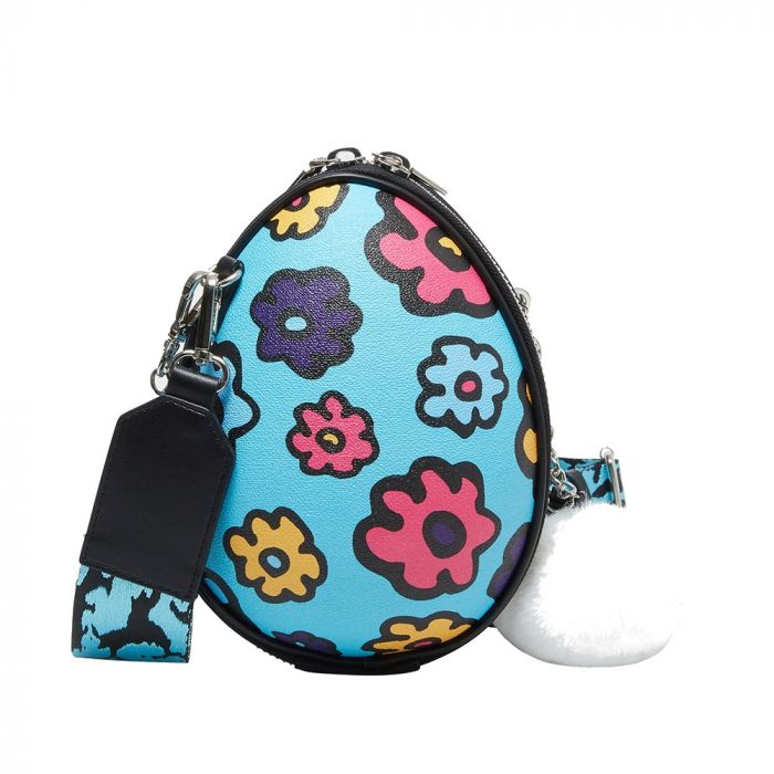 Betsey Johnson Eggcellent Crossbody Bag - Blue multicolor