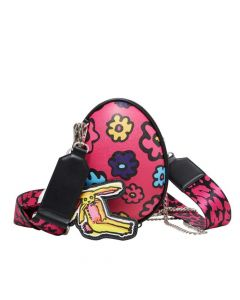 Betsey Johnson Eggcellent Crossbody Bag - Pink multicolor