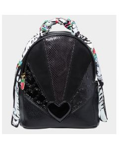 Betsey Johnson Party Animal Mini Backpack - Black/Animal Print