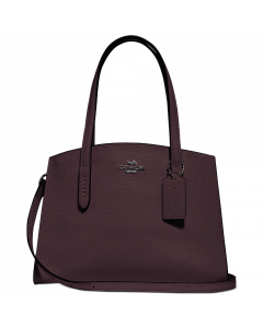Coach Polished Pebble Leather Charlie Carryall - Dark Oxblood