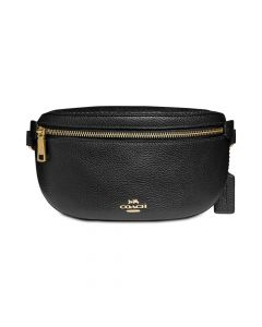 Coach Fanny Pack in Pebble Leather - Black