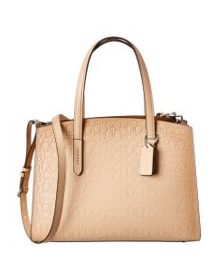 Coach Signature Charlie Carryall Leather Handbag - Beechwood