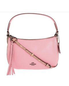 Coach Sutton Small Two Tone Keather Crossbody - Pink/Tan
