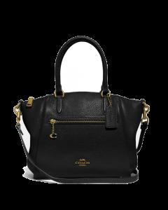 Coach Elise Satchel Pebble Leather - Gold/Black