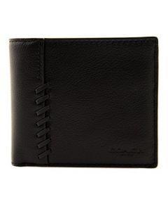 Coach Men's 3-In-1 Baseball Stitch Wallet - Black