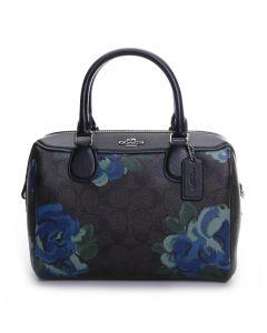 Coach Women's Mini Bennett Satchel - Black/Floral