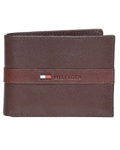 Tommy Hilfiger Passport Bill Fold Men's Wallet - Brown