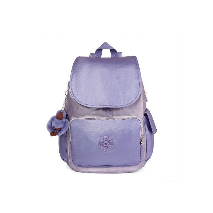 Kipling Women's City Pack Metallic Backpack - Purplecmbo