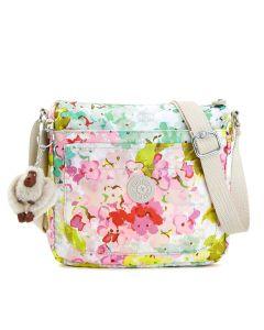 Kipling Sebastian Printed Crossbody Bag - Luscious Florals White