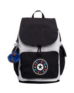 Kipling City Pack Backpack- Black/White