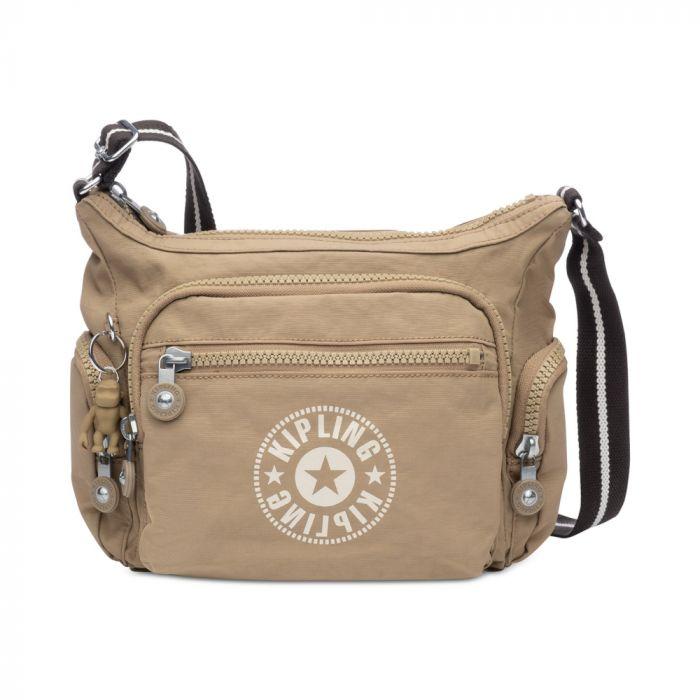 Kipling New Classics Gabbie Small Crossbody Bag - Sand/Silver