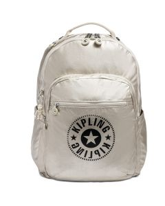 Kipling New Classics Seoul Backpack - Cloud Metallic/Silver