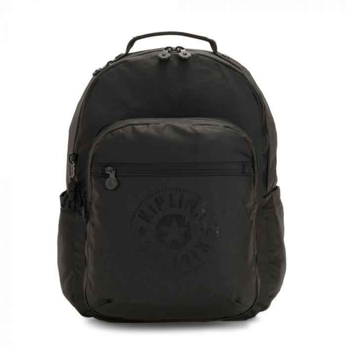 Kipling Large Seoul New Classics Backpack - Raw Black