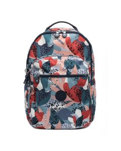 Kipling Seoul Large Backpack Laptop Sleeve Urban Jungle Print