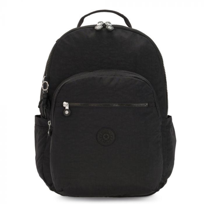 Kipling Seoul Xl Backpack  W/Laptop Sleeve - Black Noir