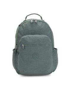 Kipling Seoul Large Backpack  W/Laptop Sleeve - Light Aloe