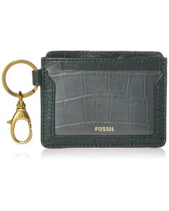 Fossil Lee Leather Card Case Wallet - Spruce