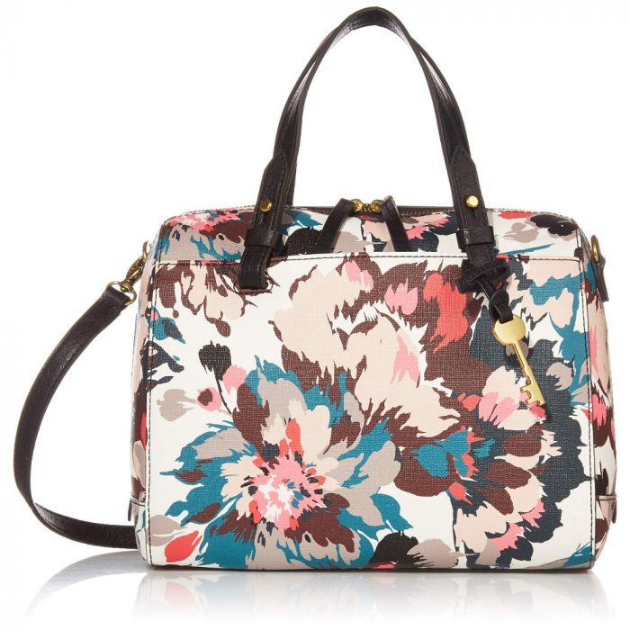 Fossil Rachel Satchel Handbag - Pink Floral