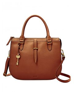 Fossil Ryder Double Handle Satchel - Brown