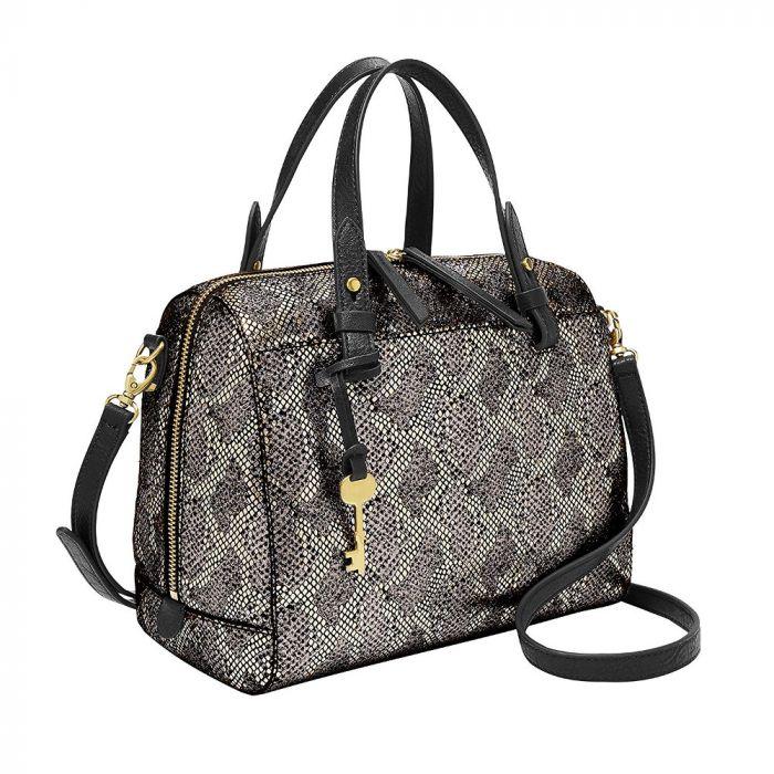 Fossil Rachel Satchel Handbag - Silver