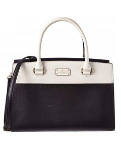 Kate Spade Grove Street Caley Leather Satchel - Black