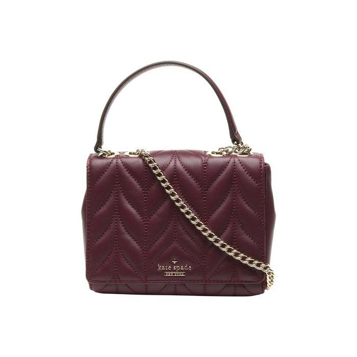 Kate Spade Briar Lane Quilted Mini Emelyn Chain Leather Crossbody Handbag