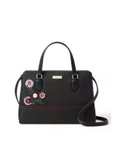 Kate Spade Laurel Way Women's Embellished Reese Leather Satchel- Black